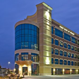 first bank of owasso commercial concrete project